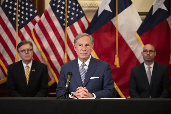 Gov. Greg Abbott announced a strike force in charge of laying steps to reopen the Texas economy at a press conference last month.