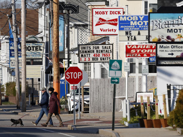 Motels are closed in late April in Old Orchard Beach, Maine, during measures to stem the spread of the coronavirus.