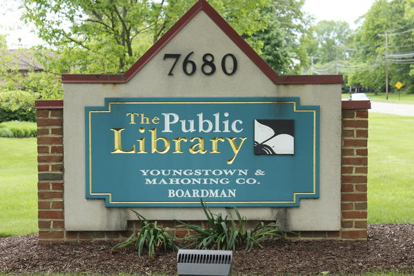 The Public Library of Youngstown and Mahoning County will begin offering curbside service this week at four of its branches, including this one in Boardman.