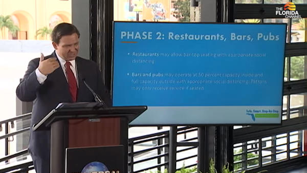 Gov. Ron DeSantis announced Phased 2 of Florida's reopening Wednesday afternoon.