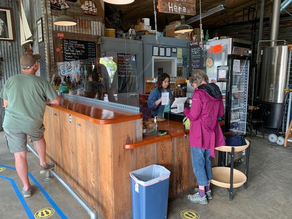 Customers flocked to the River Mile 38 brewpub in Cathlamet after it reopened its tasting room and patio in mid-May. Wahkiakum County is in the vanguard of Washington counties advancing through Safe Start reopening phases.