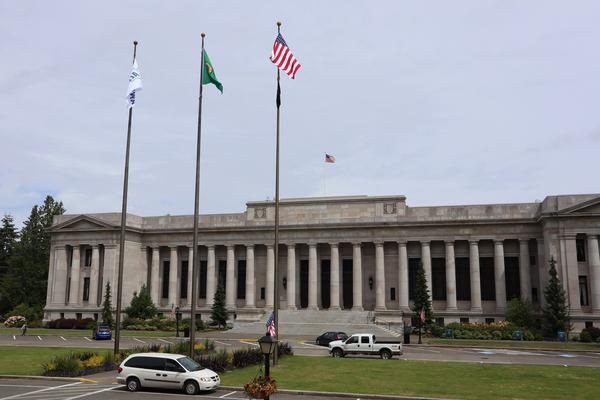 The Temple of Justice in Olympia is home to the Washington State Supreme Court.