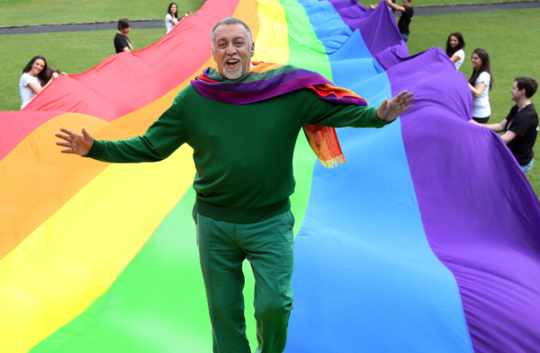Gilbert Baker in Ireland in 2011.