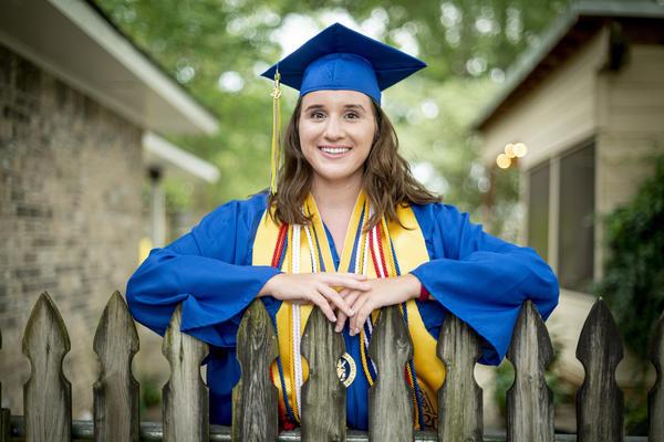 East Ascension High School Valedictorian Emma Cockrum at her home in Prairieville, La., on June 1, 2020.