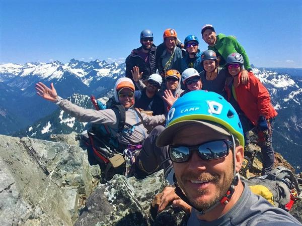 Kaf Adventures leads guided climbs of Washington and Oregon peaks, like this one in the Washington Cascades. But the business was largely put on hold as coronavirus shutdowns required.
