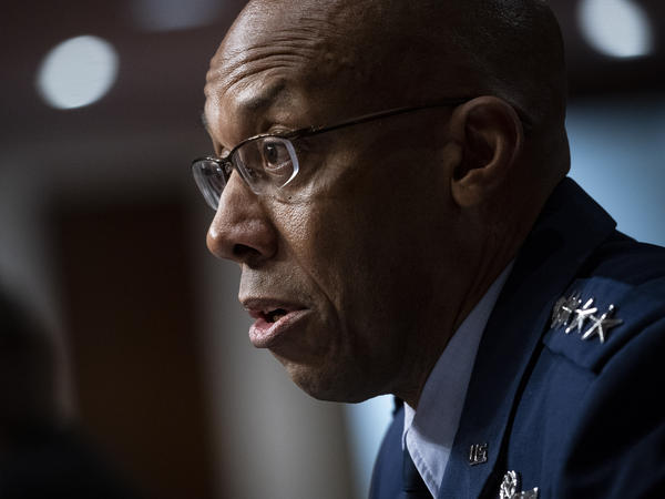 Charles Q. Brown Jr. was confirmed by the Senate to become Air Force chief of staff on Tuesday. He's seen here testifying during his Senate nomination hearing in May.