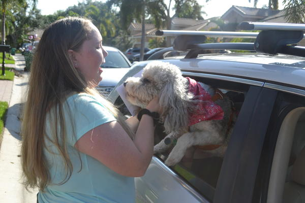 Annabel Claprood survived the 2018 shooting at Marjory Stoneman Douglas High School and later transferred to a small private school. She recently graduated, and Stoneman Douglas therapy dog River made an appearance at her surprise graduation parade.