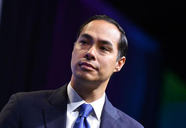 Julián Castro speaks during a conference in 2019. (Mandel Ngan/AFP/Getty Images)