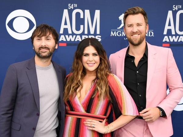 """The trio now known as Lady A, arriving at the Country Music Awards in April 2019. They announced the switch on social media, saying that calls for racial justice over the past several weeks have revealed their """"blindspots."""""""