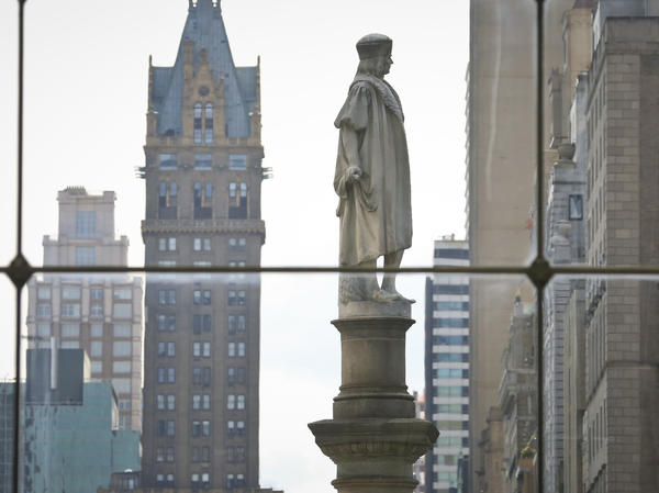 """Gov. Andrew Cuomo says the Christopher Columbus statue at Manhattan's Columbus Circle """"has come to represent and signify appreciation for the Italian American contribution to New York."""""""