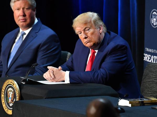 President Trump hosts a roundtable discussion last week with faith leaders, law enforcement officials and small-business owners at Gateway Church, Dallas Campus, in Texas.
