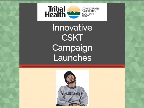Screenshot - Confederated Salish and Kootenai Tribes' Tribal Health website announces youth education social media campaign on COVID-19