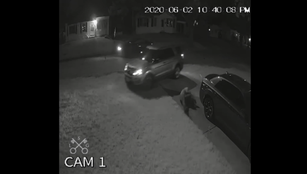 A video released Tuesday shows Florissant detective Joshua Smith veer from the road to strike a man with his vehicle.