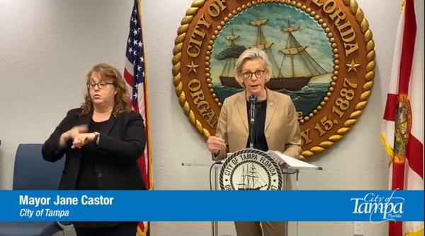 When asked about the popular calls for defunding the police, Tampa Mayor Jane Castor says she supports giving social service responsibilities to others if a safety net is in place.