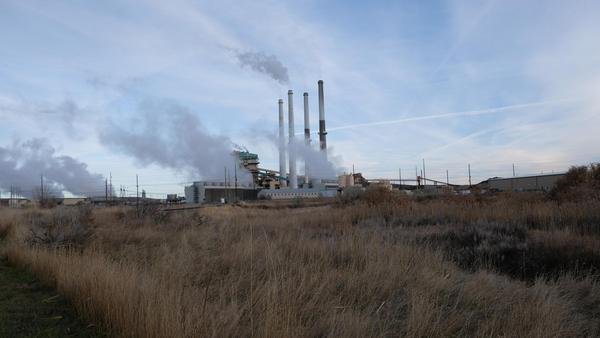The Colstrip Steam Electric Station's four stacks
