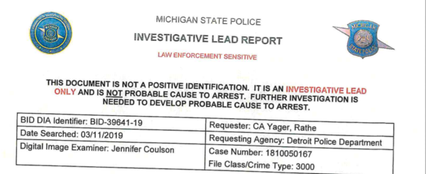 Michigan State Police ran a facial recognition search for a suspect in Detroit. It suggested the 42-year-old Robert Williams was the suspect. He was arrested and detained. He and his lawyers say the algorithm failed and mistakenly identified him as someone else. Prosecutors have dismissed the case.
