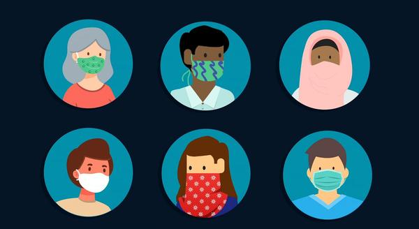 This graphic from the office of Washington Gov. Jay Inslee encourages mask use. As of Friday, face coverings will be required in public places in the state.