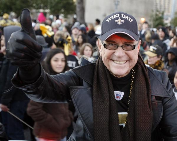 Blaine Kern Sr. at a Saints game. Kern died Thursday at the age of 93.