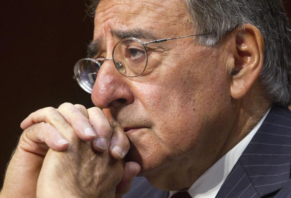Defense Secretary Leon Panetta testifies on Capitol Hill on Nov. 15. Debate over Pentagon spending cuts is heating up as a bipartisan congressional panel tries to come up with a plan to cut the federal deficit.