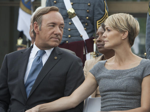 Kevin Spacey and Robin Wright star in the new Netflix original series <em>House of Cards</em>, which premieres Feb. 1.