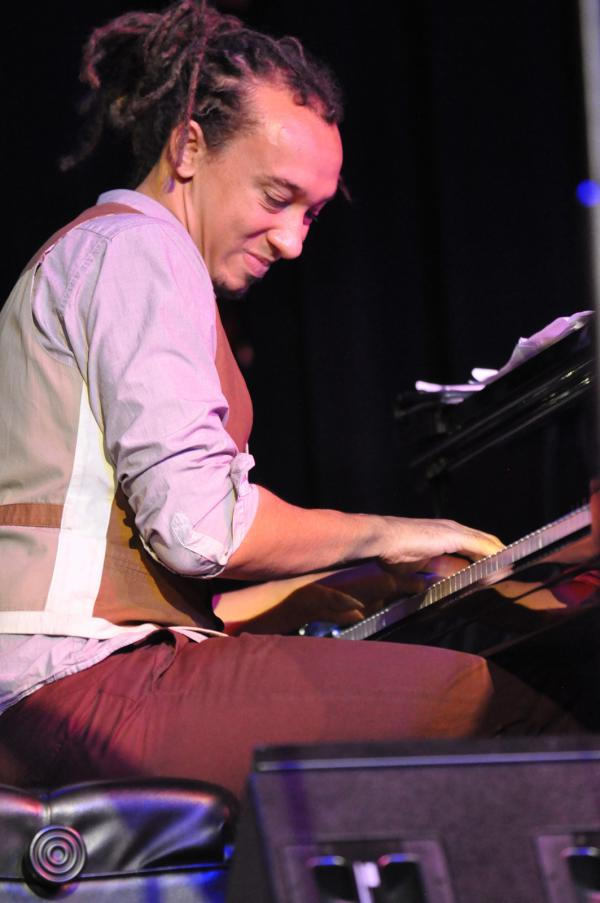 """Guest pianist Gerald Clayton contributes """"Cut Off"""" for Duke Ellington. Clayton's piano moves this music forward with confidence."""
