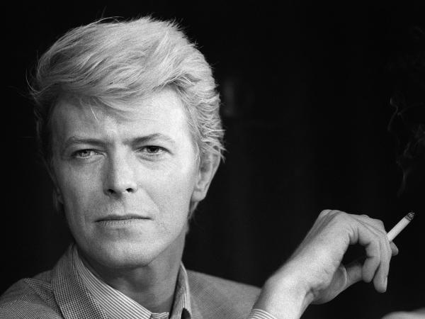 British singer David Bowie attends a press conference at the 36th Cannes Film Festival in 1983. Bowie died Sunday at the age of 69.