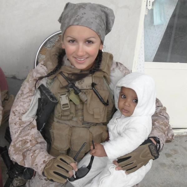 Deana Martorella Orellana in an undated photograph during her service in Afghanistan.