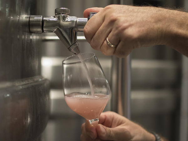 A winemaker pours rosé at the Chateau Sainte Roseline in the southern France region of Provence. European producers of premium specialty agricultural products like French wine, face a U.S. tariff hike with duties on a range of European goods, including wine.
