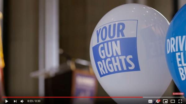 Ads like this one from the National Rifle Association are appearing more frequently since 2012, according to a new study from Johns Hopkins University.