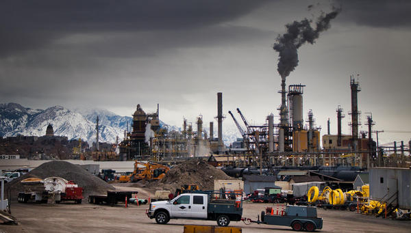 The Marathon oil refinery in the northern part of Salt Lake City.