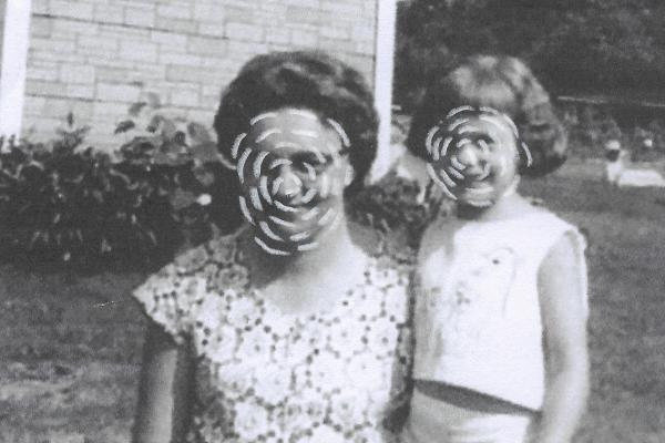 """""""In this work I explore eroding memory. Here, my grandmother, who battled with dementia, remembers the relationship with her daughter (my aunt) but mistook me for her when she momentarily lost recognition of my face. I became unknown but familiar,"""" writes Amy Parrish in an Instagram post about her project """"Check the Mail for Her Letter."""""""