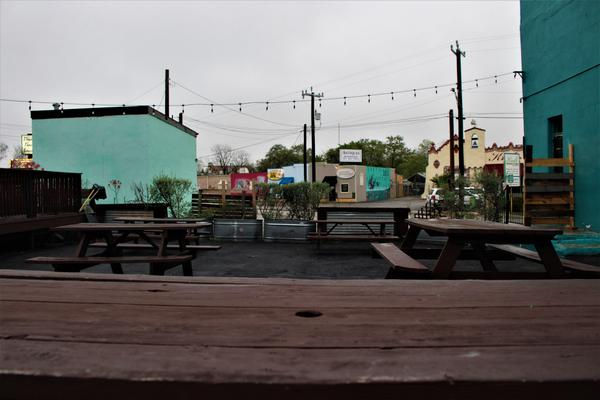 Some San Antonio businesses sit empty along the St. Mary's Strip during the COVID-19 pandemic.