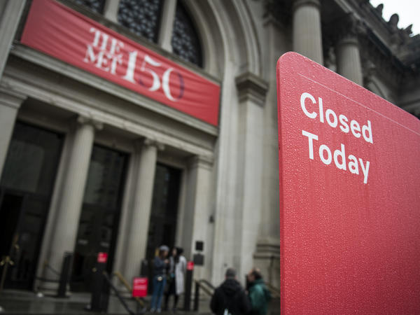 The Metropolitan Museum on Mar. 13, the first day it was closed due to the coronavirus.
