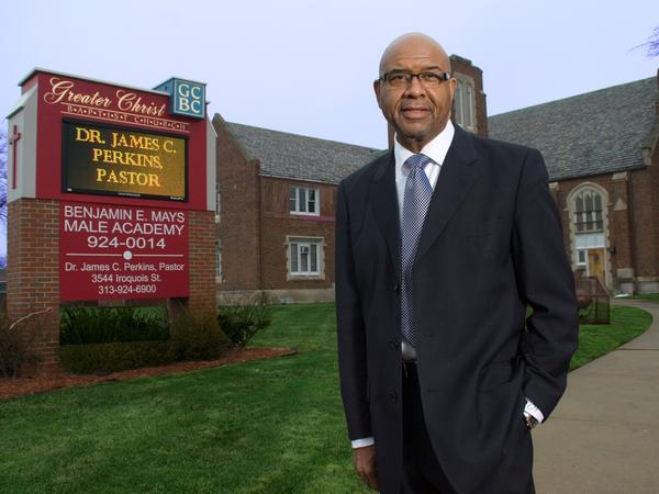Rev. James Perkins of Greater Christ Baptist Church is one of several black pastors in Detroit who were unsuccessful in their SBA loan applications.