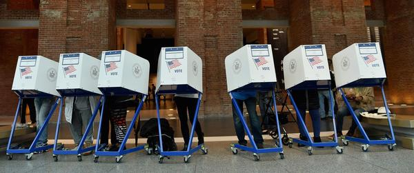 Voters cast their ballots in the midterm election in Brooklyn on Nov. 6, 2018.
