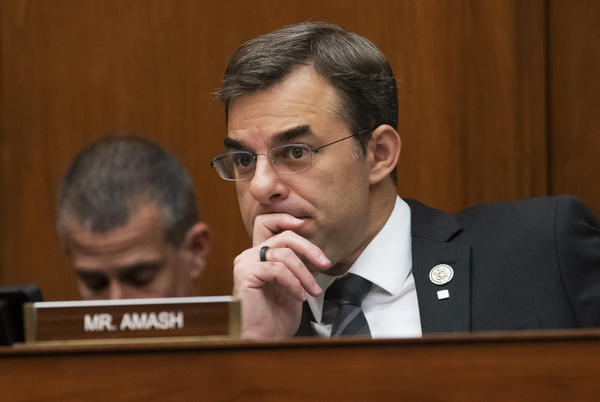 Rep. Justin Amash, seen here on Capitol Hill in June, says he is launching an exploratory committee for the Libertarian Party's 2020 presidential nomination.