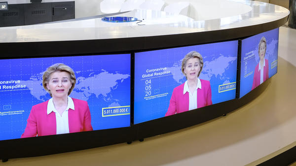 European Commission President Ursula von der Leyen led an international coronavirus global response meeting, announcing some $8 billion in pledges from donors worldwide. The Trump administration did not participate in the event.