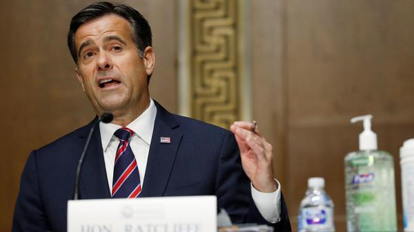 President Trump's nominee to be director of national intelligence, Rep. John Ratcliffe, R-Texas, testifies before the Senate Intelligence Committee on Tuesday.