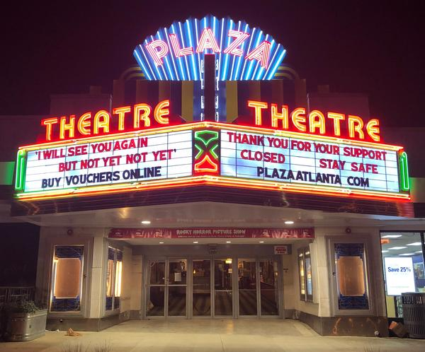 """In Georgia, Gov. Brian Kemp has authorized the opening of theaters, but Chris Escobar, owner of the <a href=""""https://plazaatlanta.com/"""">Plaza Theatre</a> in Atlanta, won't be unlocking the doors quite yet. """"I'm not forcing my employees to choose between their livelihoods and their lives,"""" he says."""