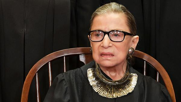 Supreme Court Justice Ruth Bader Ginsburg poses for the official photo at the Supreme Court in Washington, D.C. in 2018.