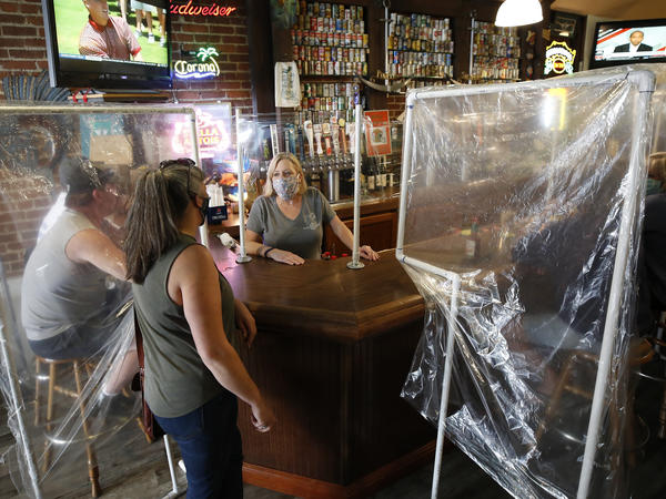 Powell's Steamer & Pub reopened to patrons on Wednesday. The pub is in Placerville, in California's El Dorado County, one area that's entered Expanded Stage 2 of reopening its economy.