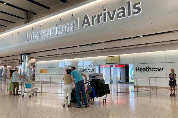 London's Heathrow Airport is one of the few in the world continuing to allow unrestricted international arrivals. The British government says it will soon require travelers to quarantine for 14 days.