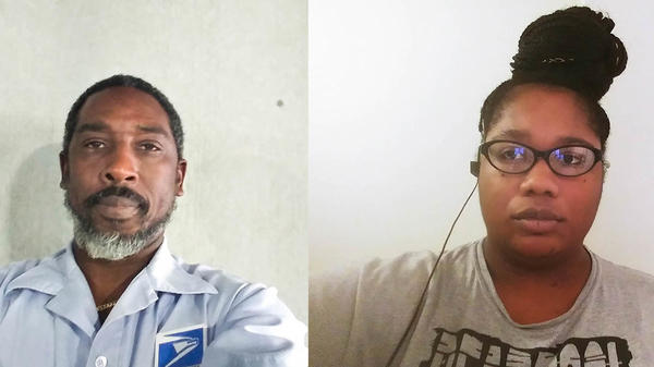 Craig Boddie and Evette Jourdain, both mail carriers in Palm Beach, Fla., spoke for a remote StoryCorps conversation last month about the job risks created by the coronavirus outbreak.