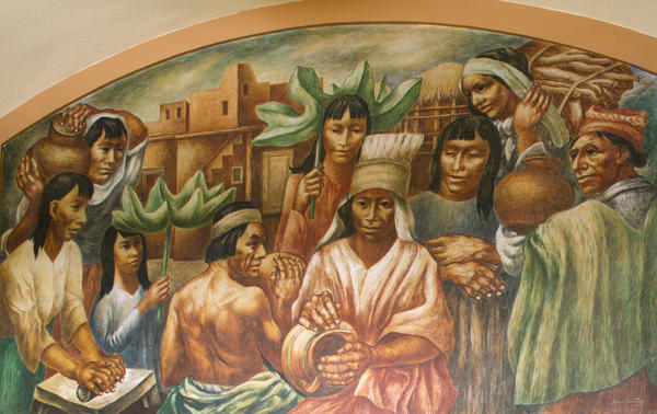Boris Deutch painted this 1941 Works Progress Administration mural in the Terminal Annex building in Los Angeles, Calif.