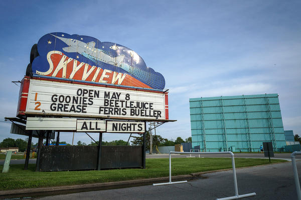 After closing during Illinois' COVID-19 response, the Skyview Drive-In in Belleville reopened for the weekend of May 8-9 with two classic double-features.
