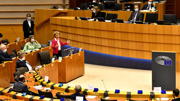 """""""This is Europe's moment,"""" European Commission President Ursula von der Leyen told EU lawmakers in Brussels on Wednesday."""