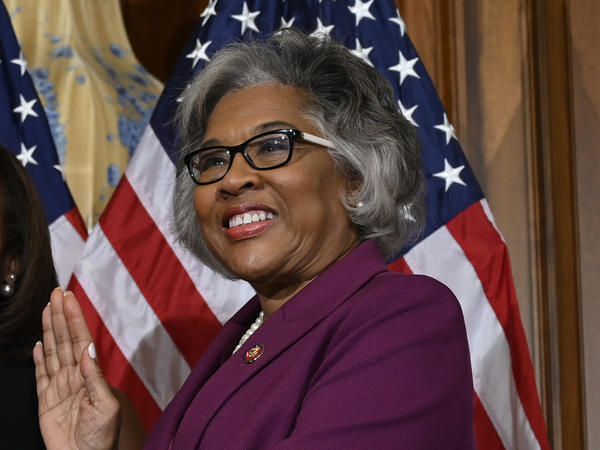 "Rep. Joyce Beatty, who was pepper-sprayed at a demonstration Saturday, said she understands sentiments that attempting to have a ""healthy dialogue"" haven't worked, but that ""violence doesn't work — violence either way."""