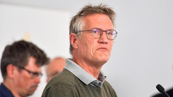 "Anders Tegnell, Sweden's chief epidemiologist, addresses a news conference Wednesday in Stockholm. ""There are things we could have done better,"" Tegnell told a Swedish newspaper."