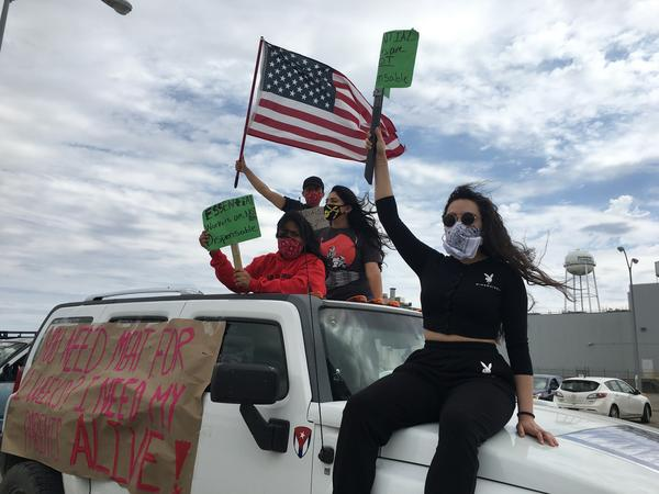 Children of meatpackers have helped organized several socially distanced protests across Nebraska to demand safer working conditions for their parents.