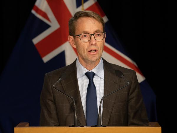 Dr. Ashley Bloomfield, New Zealand's director-general of health, pictured last week, said Tuesday that two women flying in from the U.K. via Australia had tested positive for the coronavirus and had been in isolation since their arrival.